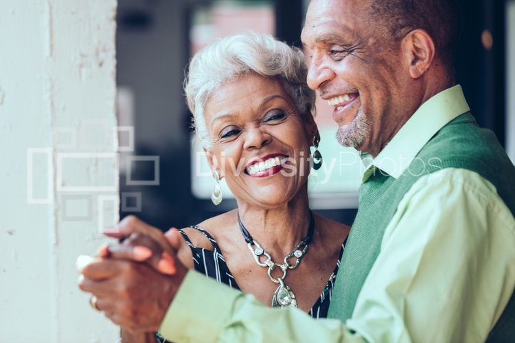 Black mature and senior Citizen Couple